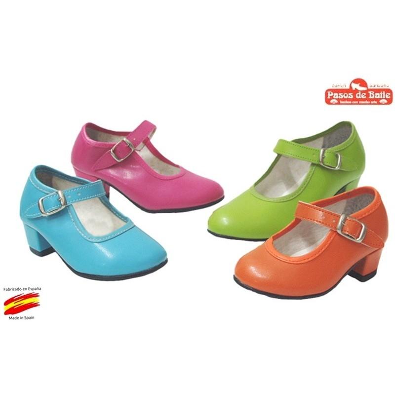 Zapato de Flamenca Varios colores.Pasos de Baile