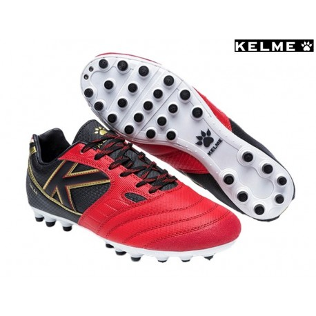 bb377cceb36 Bota Futbol Hombre Tacos Rojo-Negro.Kelme - Ziwi Shoes