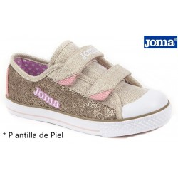 Joma Press Zapatilla De Niña Con Lentejuelas y Velcros.
