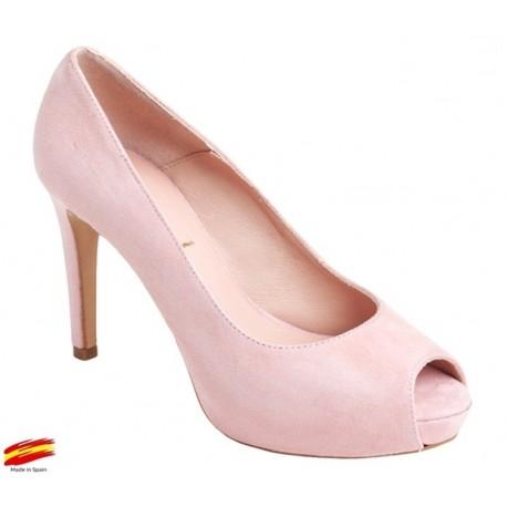 Zapato con Tacón y Plataforma Pink. Alarcón.