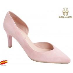 Zapato Mujer con Tacón Pink. Alarcón.