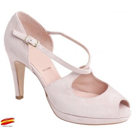 Zapato con Tacón y Plataforma Rose. Alarcón.