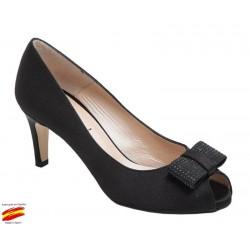 Zapato Mujer Vestir Negro. Alarcón.