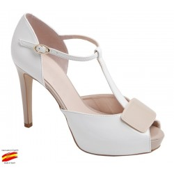 Zapato Vestir o Novia Blanco. Alarcon
