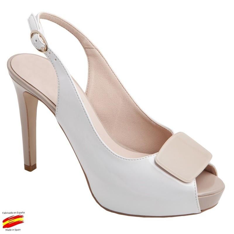 Sandalia Vestir o Novia Blanco. Alarcon