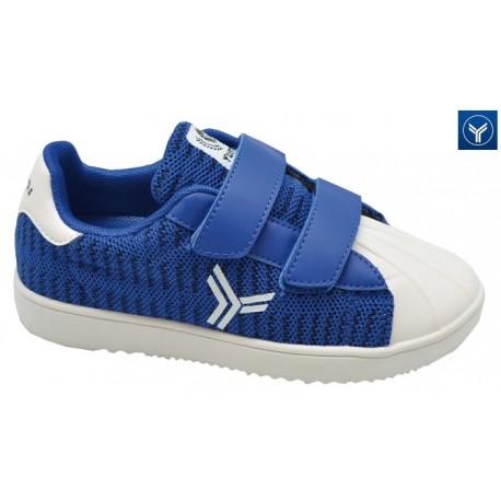 Zapatilla Casual Velcros Niño Azul. Yumas