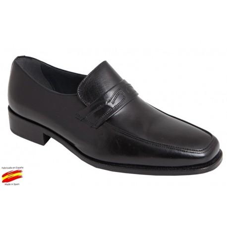 Zapato Piel Ancho Especial Negro. Cantos