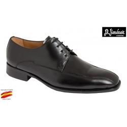 Zapato Almansa Piel Negro Ancho Especial . JR