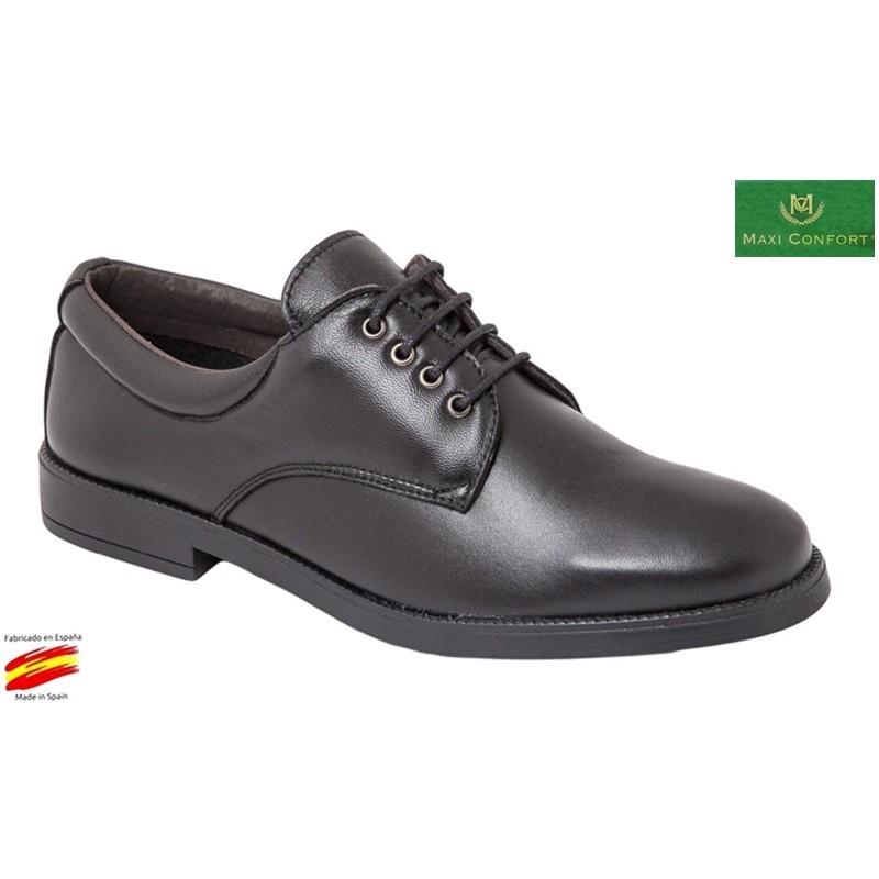 Zapato Cómodo Piel Negro. Maxi Confort