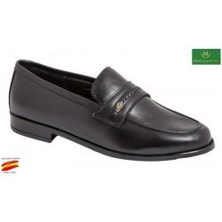 Zapato Cómodo Piso Mixto Piel Negro. Maxi Confort