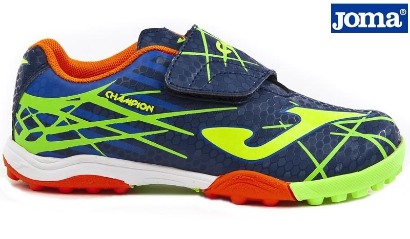 Zapatilla Velcro Futbol Sala Turf Marino. Joma Ziwi Shoes