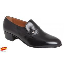 Zapato Tacón Cubano Hombre en Piel. Almansa