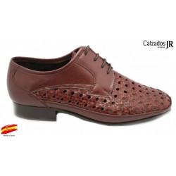 Zapato Almansa Trenzado Piel Ancho Jacinto. JR Jimenez