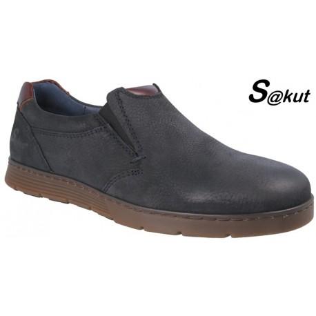 Zapato Sport Piel Nobuck Azul. S@kut