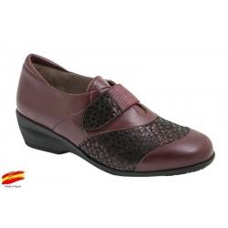 Zapato Piel-Licra Ancho Especial y Plantilla Extraible .