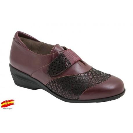 Zapato Pies Delicados Plantilla Extraible Burdeos. Coper
