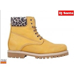 Bota Piel Nobuck Camel-Leopardo. DJ Santa