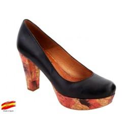 Zapato con Tacón y Plataforma Rojo. Alarcón.