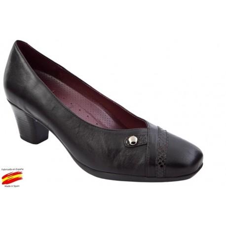 Zapato Piel Mujer Ancho Especial. Sanapie