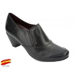 Zapato Piel Ancho Especial Con Plantilla Extraiblel. Sanapie