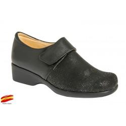 Zapato Confort Piel y Licra.