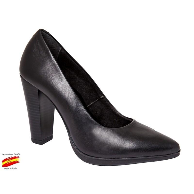 Zapato Salón Tacon Alto Piel. Rodri