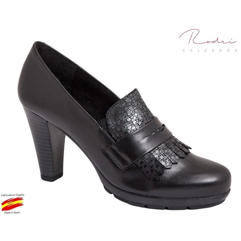 Zapato Mujer Piel Negro. Rodri