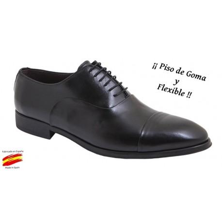 Zapato Hombre Confort Piel Negro. Almansa