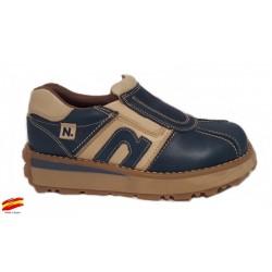 Zapato Joven Piel Con Cremalleras.