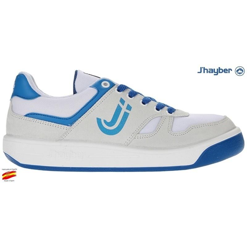 Match Deportivo Moda Piel Blanco-Azul. J'hayber