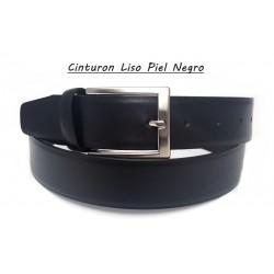 Cinturón Piel Liso Negro.
