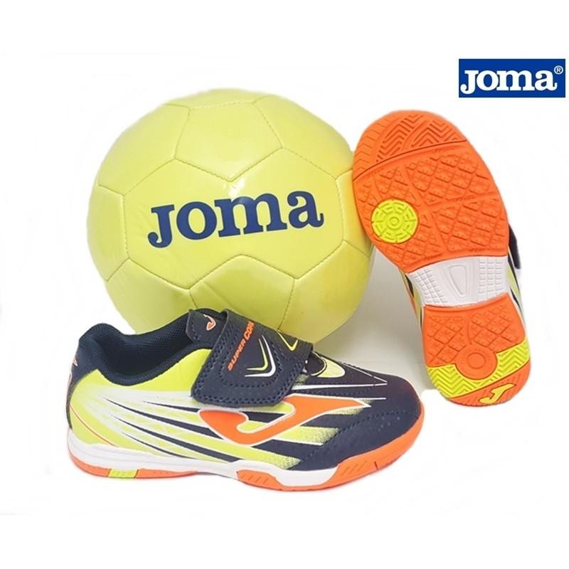 Futbol Sala Velcro Azul Con Balón de Regalo. Joma