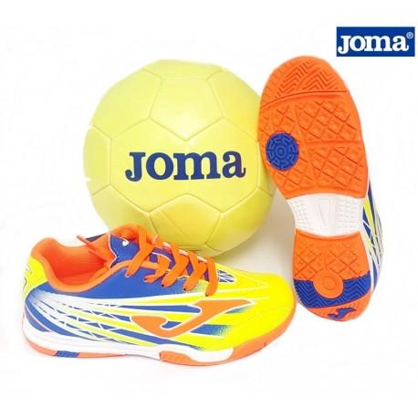 Futbol Sala Cordón Amarillo Con Balón de Regalo. Joma