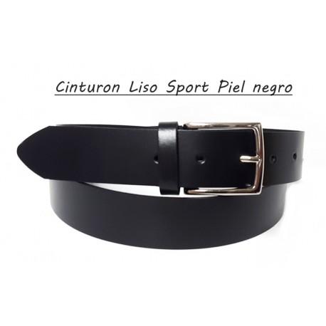Cinturón Piel Sport Negro.