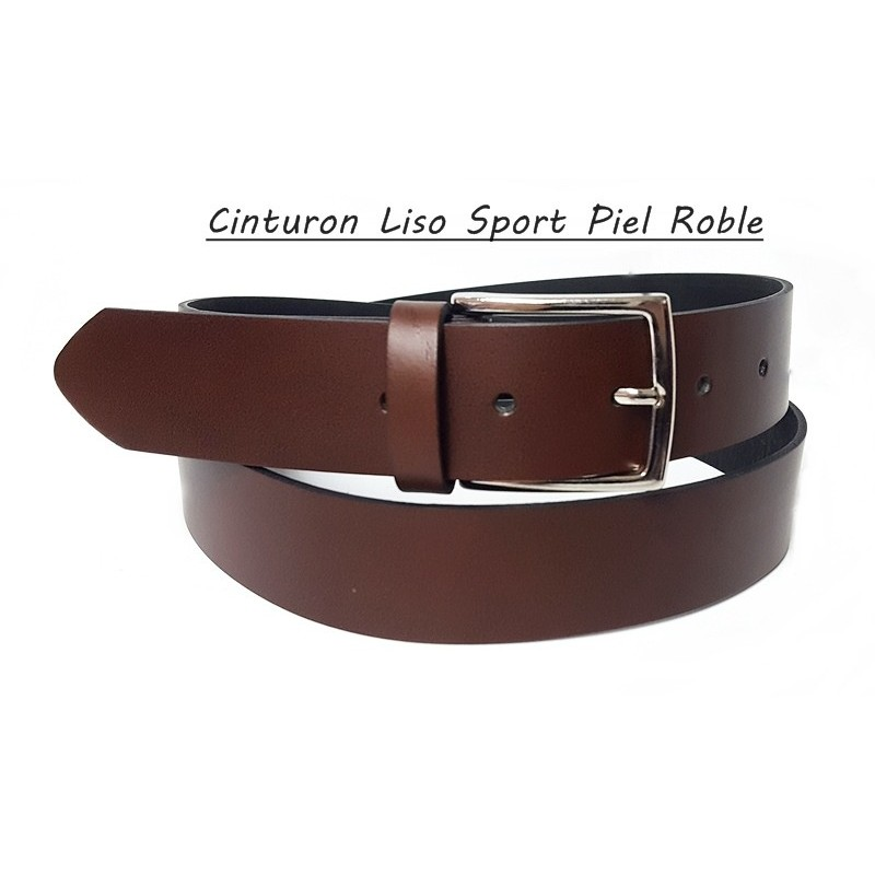 Cinturón Piel Sport Roble.