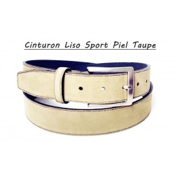 Cinturón Combinado Piel Taupe