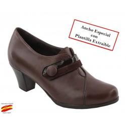 Zapato Con Velcro, Plantilla Extraible y Ancho Piel. Sanapie