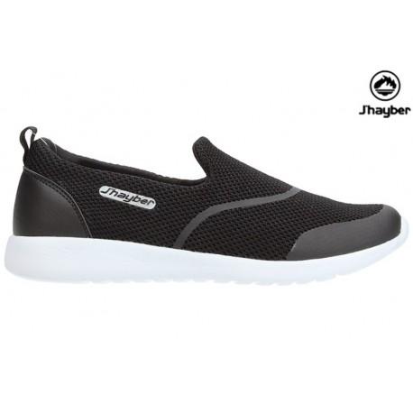 Zapatilla Cómodo Confort Foam Negro.J'hayber