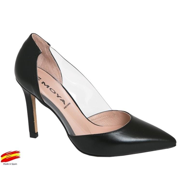 90f811bbd210 Zapato Mujer Piel y Vinilo con tacón. Alarcón. - Ziwi Shoes