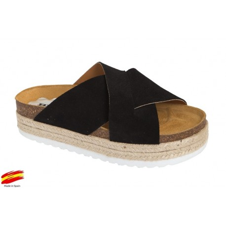 c33b227c7 Sandalia Planta Bio Piel Plataforma . BNK - Ziwi Shoes