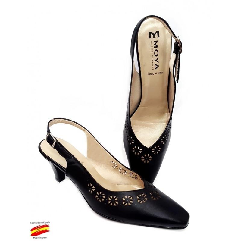 Sandalia Mujer Ancho Especial En Piel. Sanapie Ziwi Shoes