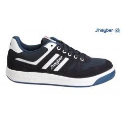Zapatillas de hombre J'hayber Olimpo Rally  Deportivo Cómodo y Transpirable de Piel Negro