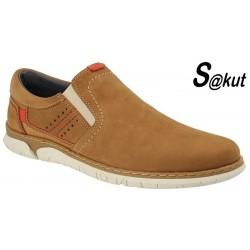 Zapato Elasticos Sport Piel Nobuck Camel.S@kut