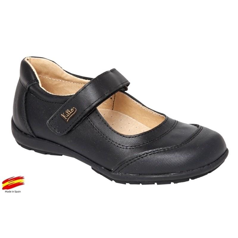 Zapato Colegial Niña Piel Punta Reforzada .