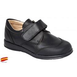 Zapato Colegial Niño Piel Punta Reforzada .