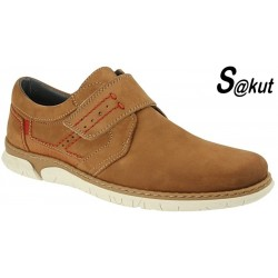 Zapato Sport Piel Nobuck Camel. S@kut