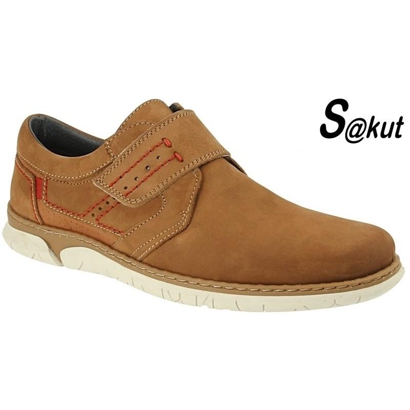 Zapato Velcro Sport Piel Nobuck Camel.S@kut