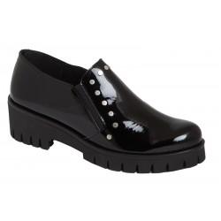 Zapato Mujer Piel, Adornos Tachas. Rodri