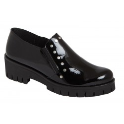 Zapato Mujer Piel Charol Negro. Rodri