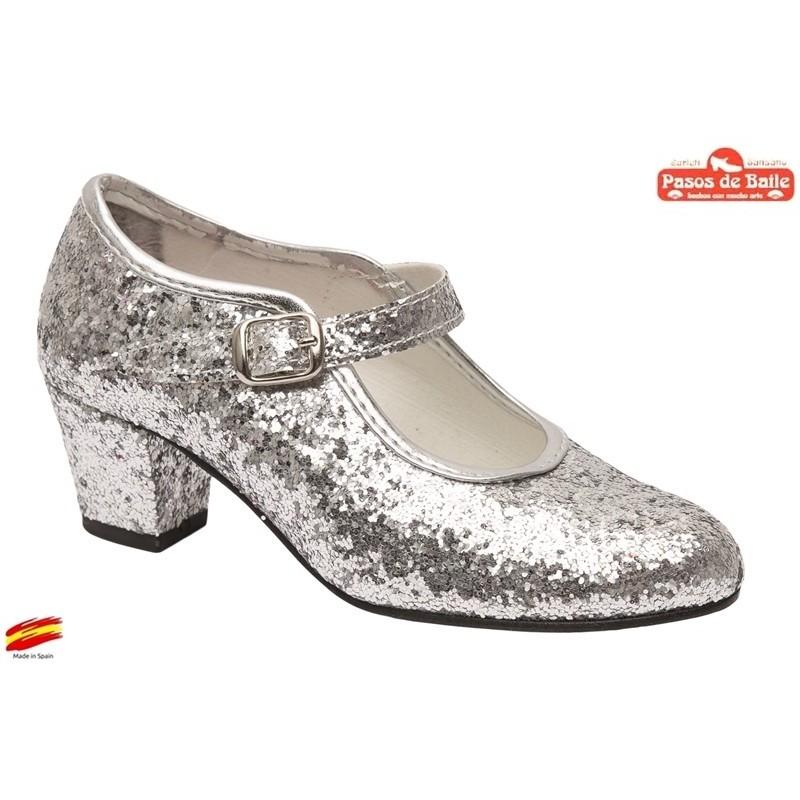 Zapato Tacón Pasos de Baile de Flamenca